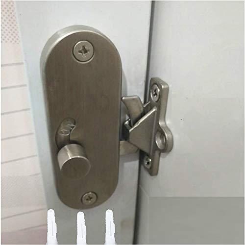 Bloqueio de porta deslizante de aço inoxidável 304, fechadura de porta de celeiro deslizante e trava de parafuso trava trava trava trava, porta de movimento de 90 graus, fivela de ângulo direito trava de privacidade.