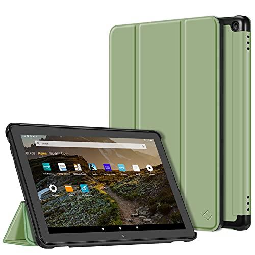 Fintie Hülle Kompatibel mit Das Neue Fire HD 10 und Fire HD 10 Plus Tablet (11. Generation, 2021) - Ultradünne Leichte Schutzhülle mit Auto Schlaf/Wach Funktion, Salbei Grün
