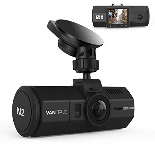 """Vantrue N2 Dual Lens Dash Cam FHD 1080P Front and Rear Dashcams for Cars 1.5"""" Near 360° Taxi Uber Dual Car Camera w/Parking Mode, Front Camera Night Vision Effects, Motion Detection, Loop Recording"""
