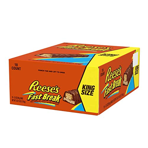 Reese's Fast Break King - Erdnussbutter Kingsize-Riegel, 18 Stück (18 x 99 g)