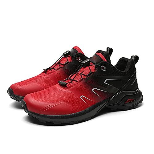 Aerlan Men's Running Shoes,Zapatos de Hombre de montañismo de Ocio al Aire Libre, Zapatos de Senderismo Impermeables-Red_47,Zapatos de Gimnasia Zapatos Ligeros