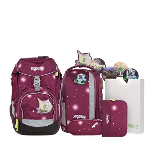 ergobag pack Set - ergonomischer Schulrucksack, Set 6-teilig - FeenzauBär - Lila