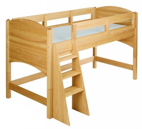 BioKinder 22730 Noah Spar-Set Kinder-Hochbett aus Massivholz Erle 80 cm
