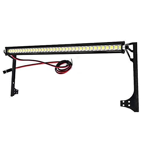 PQZATX RC Car Dachleuchte 36 LED Lichtleiste für 1/10 RC Crawler Axial SCX10 II 90046 90060 Karosserie, A.