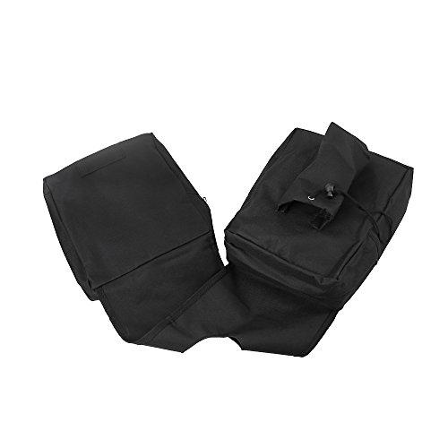 ATV Saddle Bag Black - Tank Bag Front Accessories Storage Pack Luggage