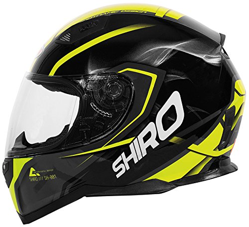 Shiro SH881MOTY Casco SH-881 Motegi Amarillo 58-M, Hombre, Medium