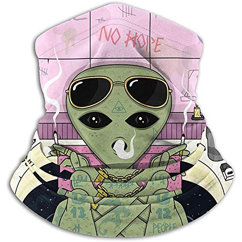 Face Scarf Trippy Alien Smoke Rekbare Camping Neck Gaiter Tube Multifunctionele Neck Warmer Neck Gaiter Bandanas Lichtgewicht Winddichte Neck Gaiter Warmer Snowboarden Winter Wax