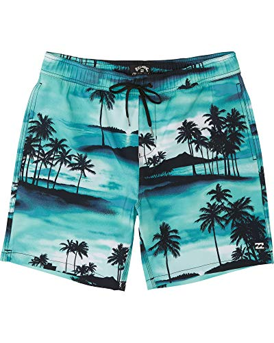 Billabong Heren Zwembroek Sundays Pigment LB Aqua Blue XL
