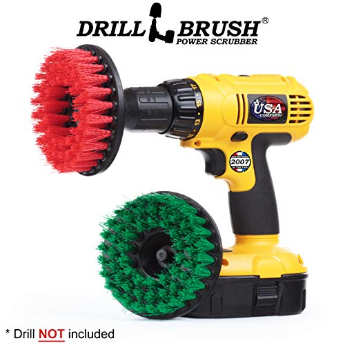 Drill Brush - reinigingsaccessoires - medium en vaste borstelkit - Spin Brush - voegenreiniger - tegels, werkbladen, fornuis, oven, spoelbak, afvalemmer, floor - betonzwembad, tuinfontein