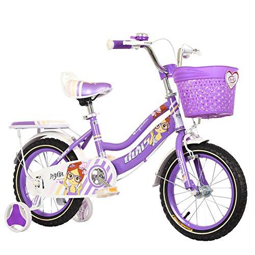 HAMHIN Bicicleta de Ciclismo Ligera para niños de 12/14/16/18 Pulgadas, Regalo para niños, Bicicleta de Estudiante para niños y niñas
