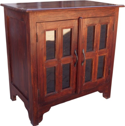 Guru-Shop TV-kast Ladekast, Dressoir in Massief Hout - Model 7, Bruin, 76x76x46 cm, Ladekasten Dressoirs