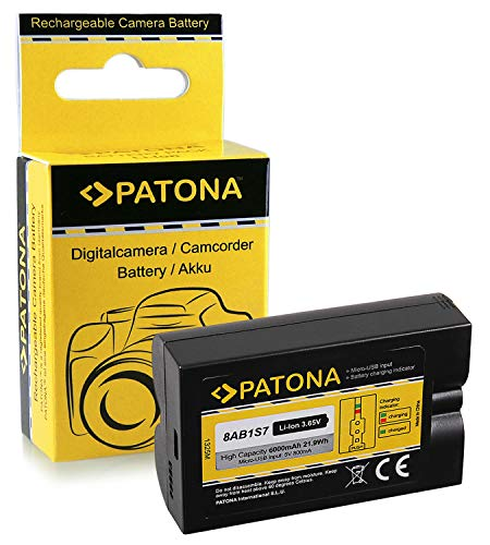 PATONA Batterij 8AB1S7 compatibel met Ring Video Doorbell 2, Spotlight Cam Solar - 6000mAh