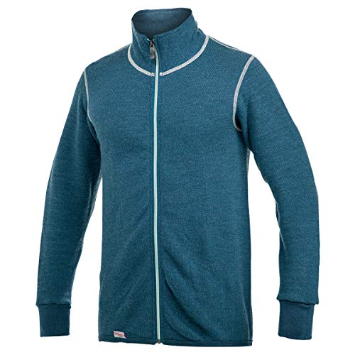 Woolpower 400 Colour Collection Full-Zip Jacket Petrol/Champagne 2020 functionele jas