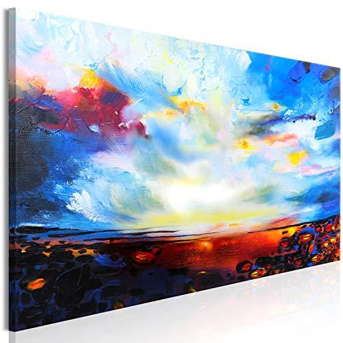 murando Quadro Astratto 120x40 cm 1 Pezzo Stampa su Tela in TNT XXL Immagini Moderni Murale Fotografia Grafica Decorazione da Parete Blu Orange a-A-0512-b-a