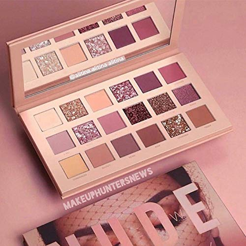 Emilyisky 18 Colores Nude Eye Shadow Makeup Pearl Metallic Eyeshadow Palette Makeup Multi-Color
