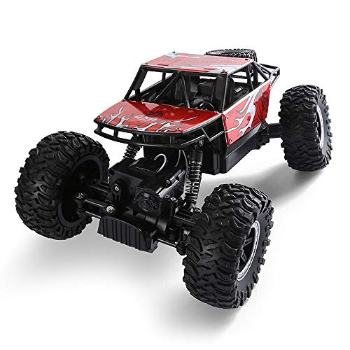 OUUED 1/14 Monster Truck All-Terrain Climbing Vehicle Remote Control Crawler Car 2.4GHz Buggy Electric Rock for Boy Christmas Present