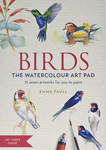 BIRDS Watercolour Art Pad: 15 beautiful artworks for you to paint