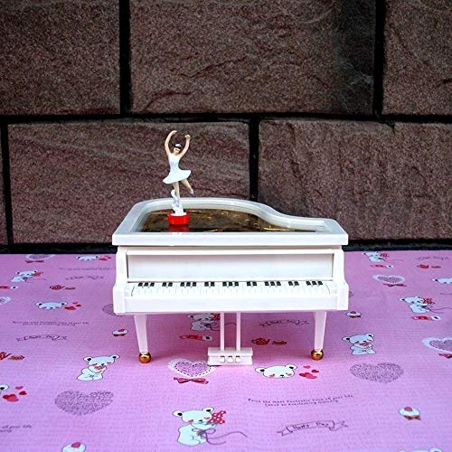 Fashion Piano Music Box Ring Box Creative Mooie Gift Mooi Ballet Girl Roteren Music Box QPLNTCQ