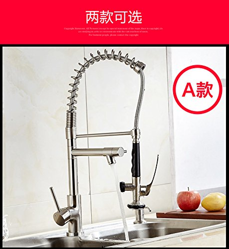 Commerciële Single Lever Pull Down Keuken wastafel kraan messing vervaardigd gepolijst alle koper Amerikaanse Pull keuken kraan wastafel bronkraan warm en koud trekken hoge druk dubbel water A Drawing Small Buckle is More Convenient to Use