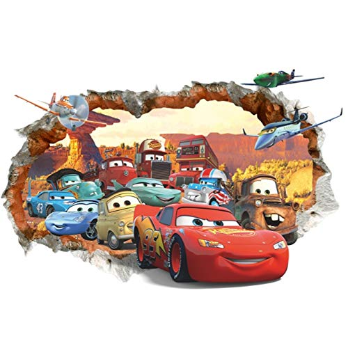 Kibi Pegatinas Decorativas Pared Cars 3d Disney Para Sala De Niños Sala De Estar Dormitorio Bebe Decoración Del Hogar Pegatinas De Pared Niño Adhesivos Pared Decorativos Cars Extraíble