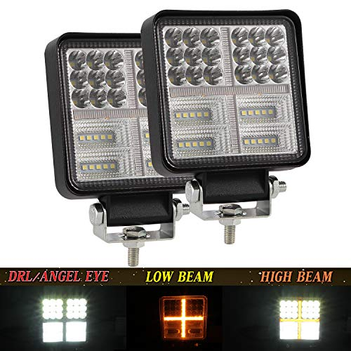 Par LED Faro Trabajo Con Barra LED 4