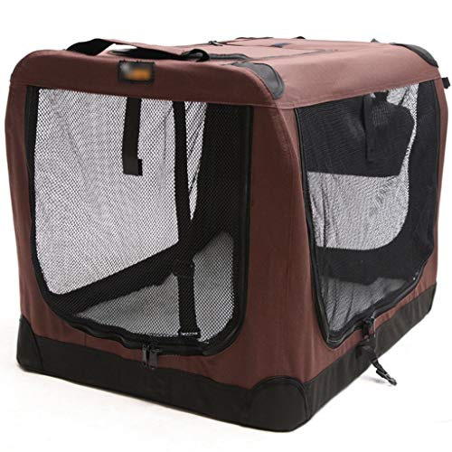 Autotransportboxen hondentransportbox auto hondenframe, opvouwbaar Kennel, out-of-poort beweegbare hond tent, alle constructie van stalen frame 70 * 52cm coffee