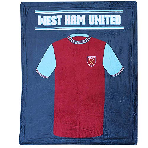 West Ham United Giant Fleece Sherpa Deken (Polyester Fleece & 178cm x 152cm)