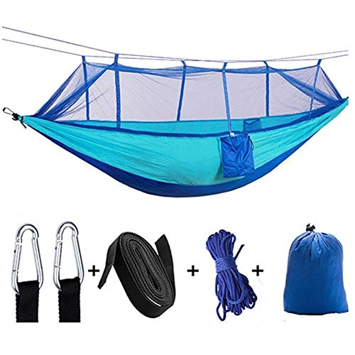Portable Klamboe Hangmat 1-2 Persoon Portable outdoor camping hangmat Met Klamboe Hangmat Tent met waterdichte Canopy (Color : 4)