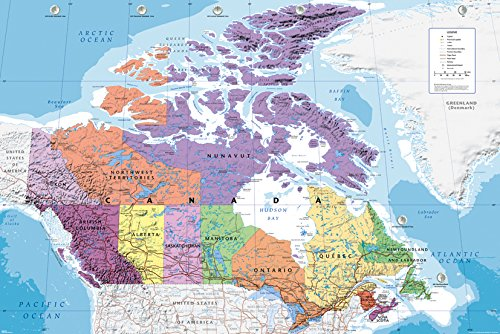 GB eye LTD, Canada, Mapa, Maxi Poster, 61 x 91,5 cm