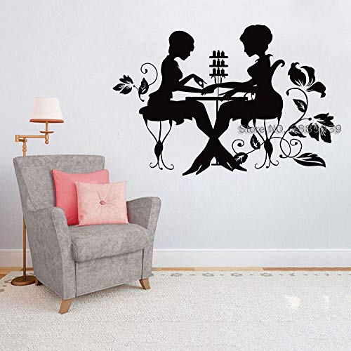 Geiqianjiumai Manicure salon nagellak manicure wanddecoratie venster applique muur sticker nagel salon vinyl teken poster