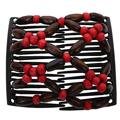 JUSTFOX - Trend African Butterfly Hairclip rood