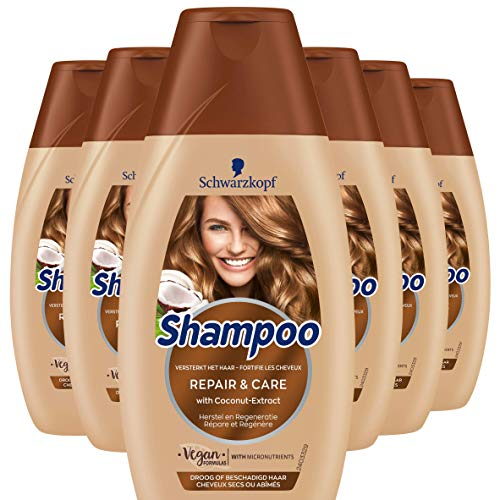 Schwarzkopf Repair en Care Shampoo 250ml, 6 stuks