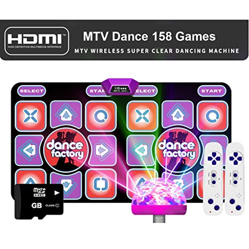 Kwaliteit Dance Mats for Dancer Wireless Double Somatosensorische Game Machine Running Deken Yoga Mat Gift Memory Card -Dansmat (Color : Purple, Size : Wireless HDMI)