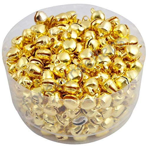 Koop 6 MM 100 stks/partij Loos Kleine Kerst Jingle Bells Decoratie Kleurrijk/Mix Colore Party DIY kralen, Golden