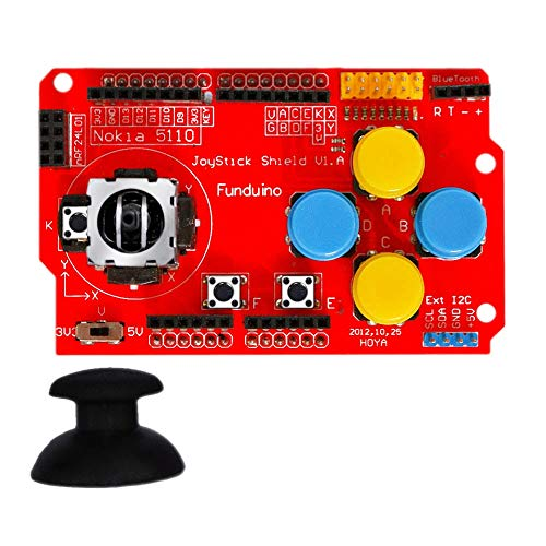 Compatibele Vervangings Joystick Shield for Arduinos Expansion Board Analog Toetsenbord en muis Functie Joystick Shield V1.2 Accessory