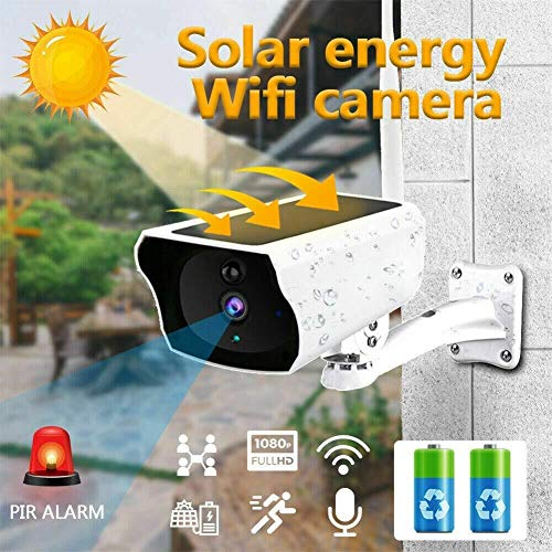 Solar Surveillance camera, mobiele WiFi Remote Waterproof Bewakingscamera, met TwoWay Audio, Remote Viewing, Night Vision for Smartphone Babyfoon met camera,leilims