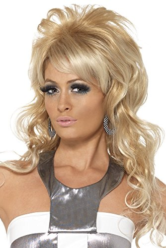 Smiffys, Dames jaren 60 Beauty Queen Pruik, One Size, Blond, 42011