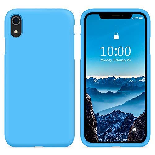 SURPHY COVER IPHONE XS Max Silicone Custodia Blu Orizzonte(Full