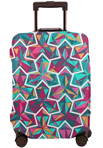Color Geometry Travel Suitcase Cover Protector Bagage Beschermende Cover Wasbare Bedrukte Rits Bagage Koffer Cover