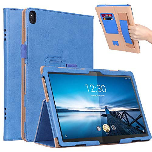 MeterMall Useful For Lenovo M10 TB-X605F/Lenovo P10 TB-X705F Retro PU Leather Protective Hand Support Tablet Case with Card Position Bracket blue Lenovo M10 TB-X605F/Lenovo P10 TB-X705F