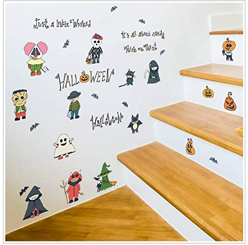 Wallpaper Murals Halloween Gratis Stickers Kast Deuren en Windows Corridor Tv Koelkast Halloween Dag Gift Muurstickers