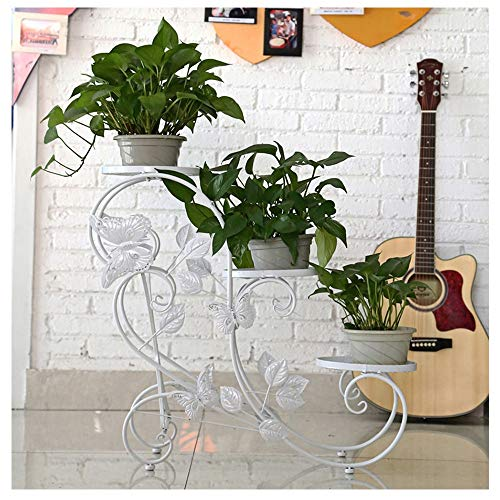 Kleine Ladder van de bloem Flower Pot Plant Frame Indoor Bay Raamdecoratie Display Stand Balkon smeedijzer Bonsai Plant Shelf Bloemenstandaard-4.4