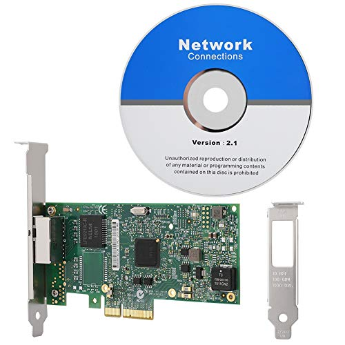 Topiky Tarjeta de Red, I350-T2V2 PCIE X1 Server Dual Gigabit Ethernet, para Intel I350-T2V2 Pci-EX4 Adaptador de Red LAN Gigabit de Doble Puerto, para Windows 7 SP1, para Windows Server 2003 SP2