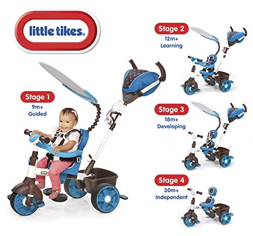 Little Tikes 634352E4 - 4-in-1 Sports Edition Trike, blauw/wit