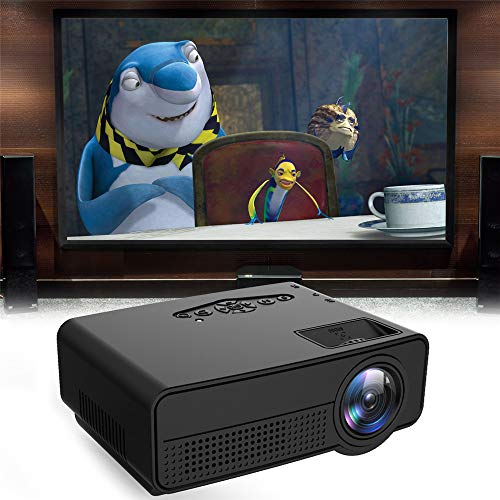 AAERP Mini beamer mini-projector, 4k projector, ultra HD home theater entertainment, projector, filmprojectors, helderheid, pocket, videoprojector zwart