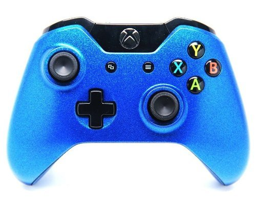 """Candy Blue"" Xbox One Rapid Fire Custom Modded Controller 40 Mods for All Major Shooter Games, Quick Scope, Sniper Breath, Burst Fire, Auto Aim, Jump Shot and More"