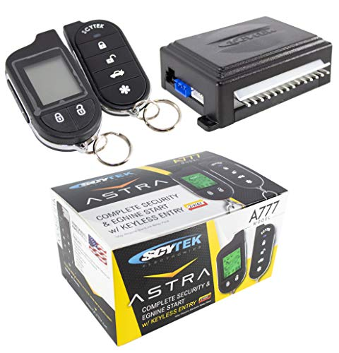 Car Alarm Security System, Keyless Entry 2-Way LCD Remote Control Scytek 777