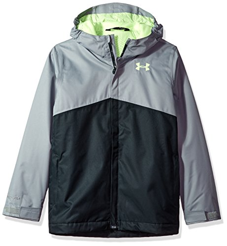 Under Armour Women's Storm Freshies Jacket, Steel (035)/Quirky Lime, Youth Large