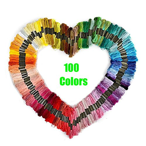 Embroidery Flosses Cross Stitch Floss Thread Crafts Threads Multicolor DIY Handmade 100Pcs Mother's Day Gift