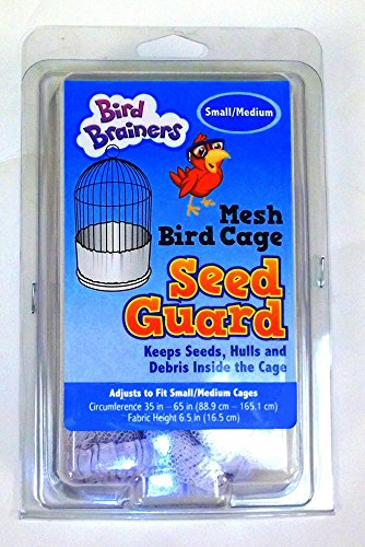 Bird Brainers Nylon Mesh Seed Guard, White, Small/Medium 35-65 Inches